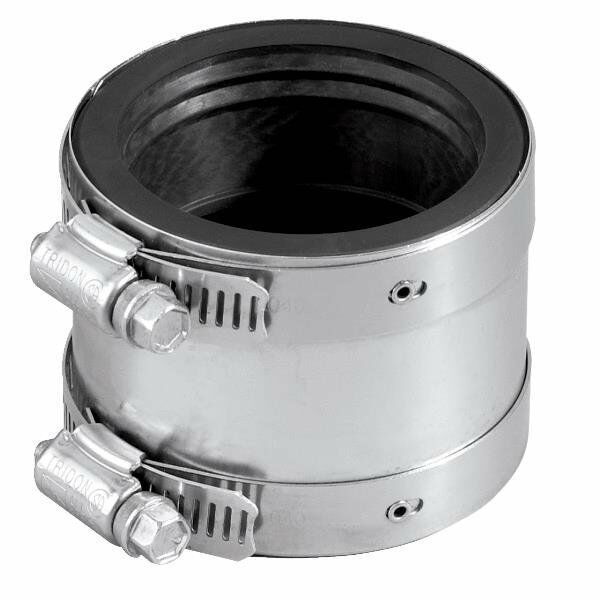 Fernco rubber quot shielded transition pvc pipe coupling