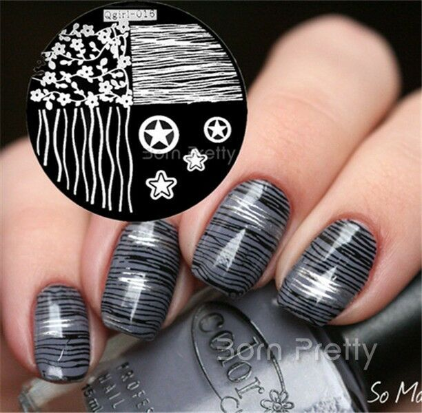 nagel schablone stempel nageldesign nail art stamp image. Black Bedroom Furniture Sets. Home Design Ideas