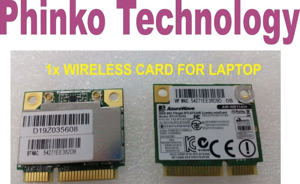 AzureWave IEEE 802 11 b/g/n AW-NB114/H Laptop Wireless mini Card | eBay