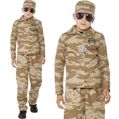 kinder jungen w ste armee soldat kost m kinder outfit neu. Black Bedroom Furniture Sets. Home Design Ideas