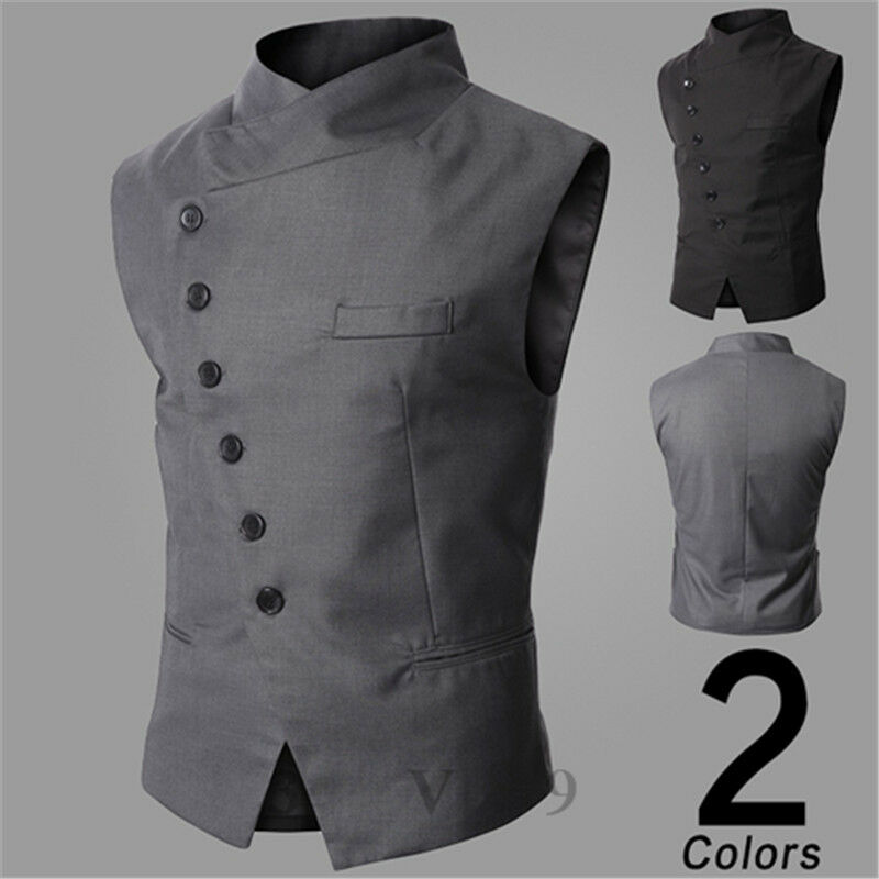 neue herren business anzug weste vest sakko hochzeit westen party clubwear ebay. Black Bedroom Furniture Sets. Home Design Ideas