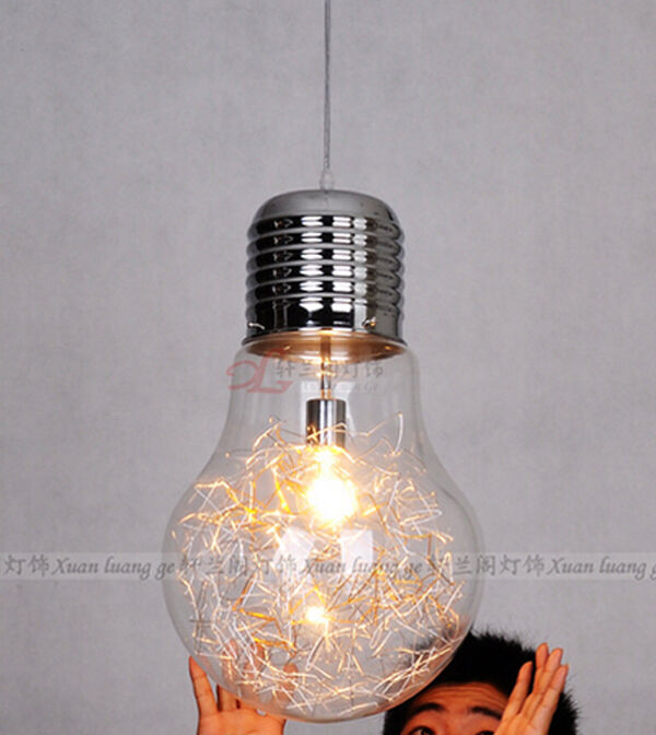 Vintage industrial diy edison bulb style glass ceiling for Industrial bulb pendant
