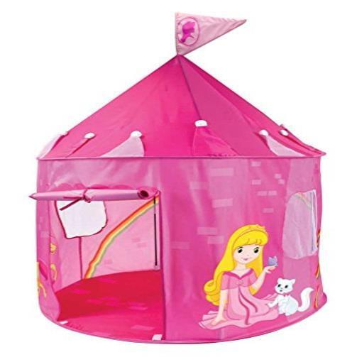 girls pink princess play castle pop up tent by imagination. Black Bedroom Furniture Sets. Home Design Ideas