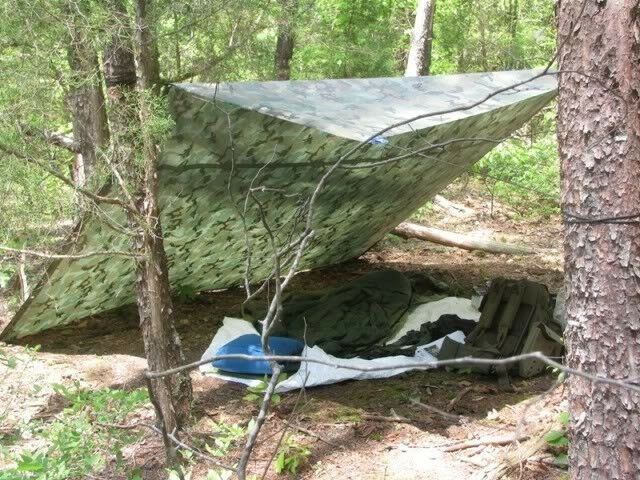 Camouflaging Bug Out Shelter : Camo survival shelter tarp emergency doomsday prepper