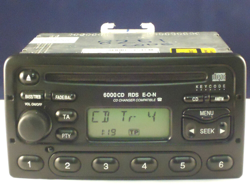 ford 6000 radio cd player car stereo code transit focus. Black Bedroom Furniture Sets. Home Design Ideas