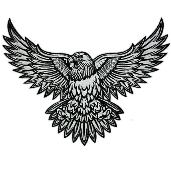Vegasbee eagle reflective embroidered patch american for Eagle wings tattoo