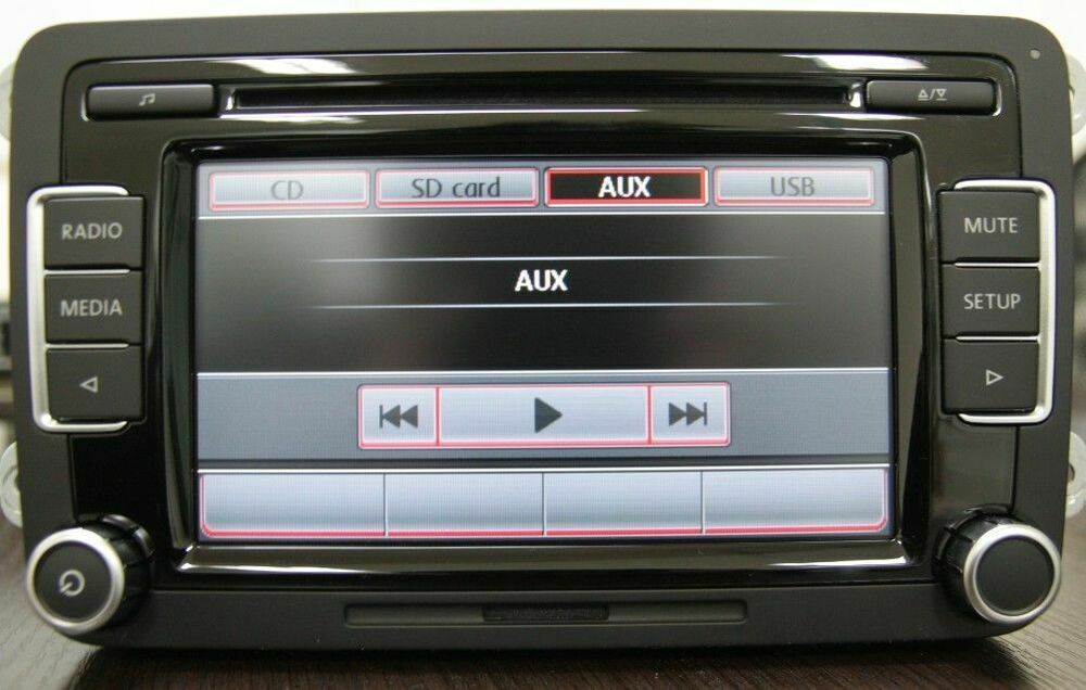 vw car stereo radio rcd510 usb mp3 aux sd golf passat. Black Bedroom Furniture Sets. Home Design Ideas