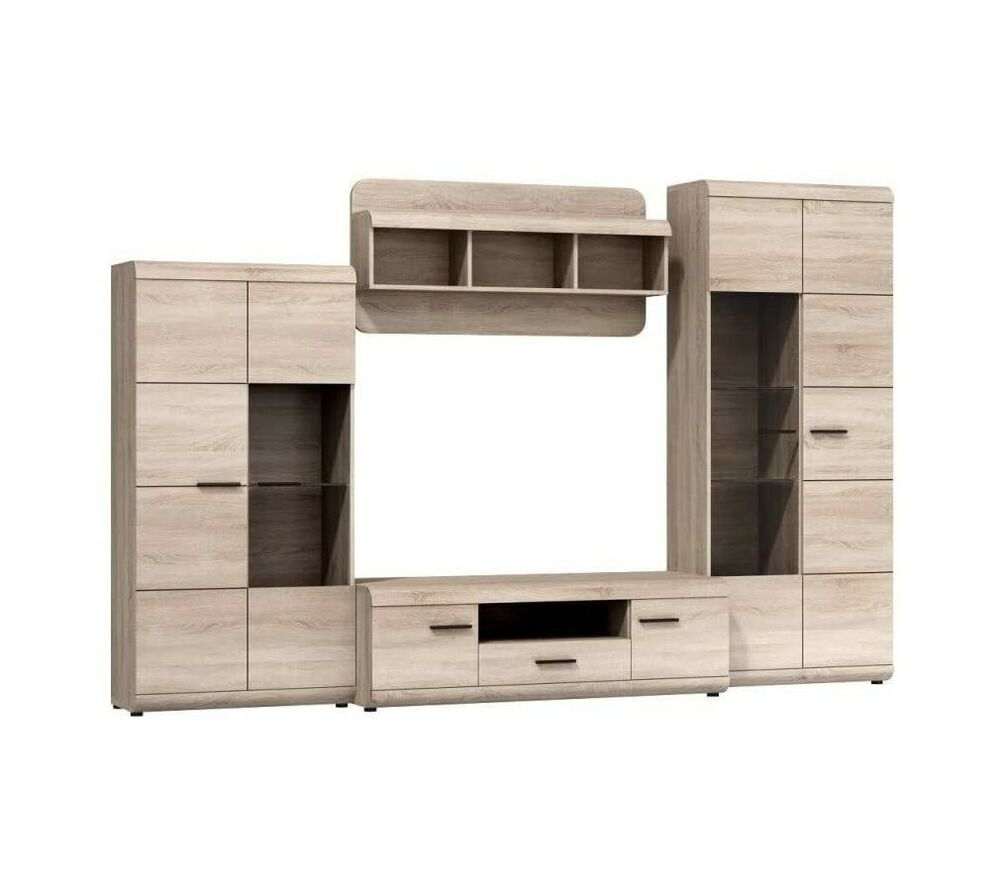 moebel24 pl wohnwand link sonoma eiche ebay. Black Bedroom Furniture Sets. Home Design Ideas