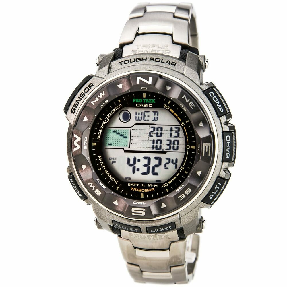 Casio Prw2500t 7 Mens Pathfinder Solar Powered Titanium