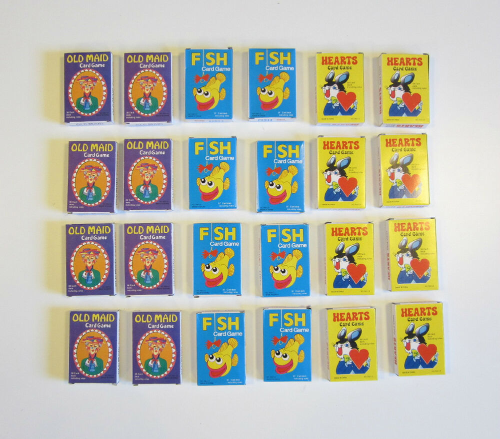 24 new decks of kids card games old maid go fish and for Fish card game