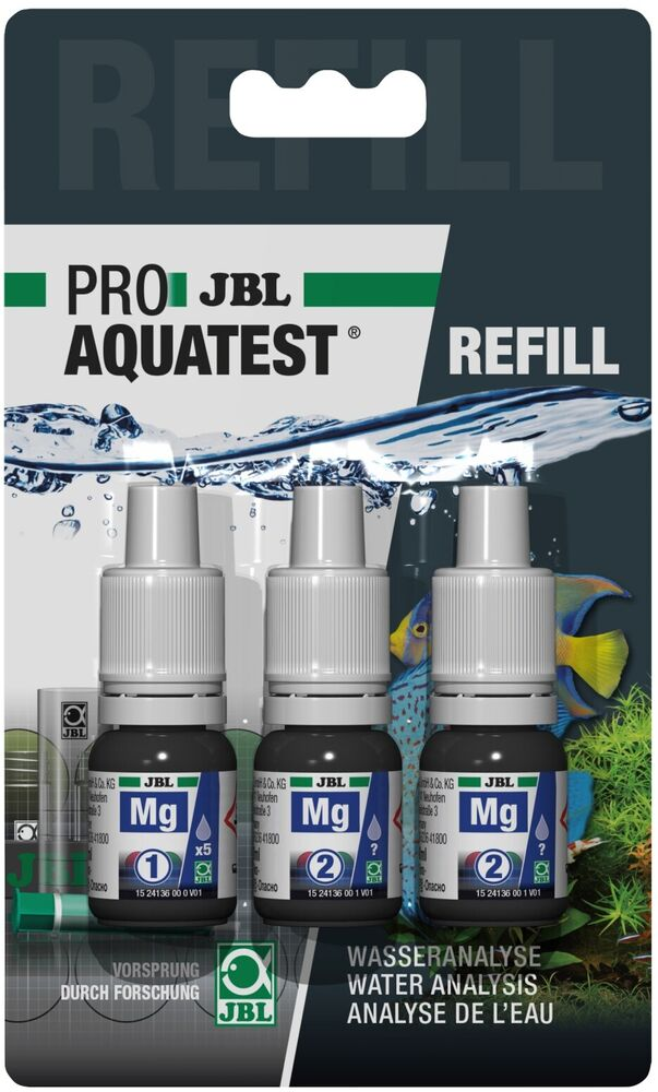 Jbl test kit mg magnesium refill aquarium coral tank for Jbl aquarium