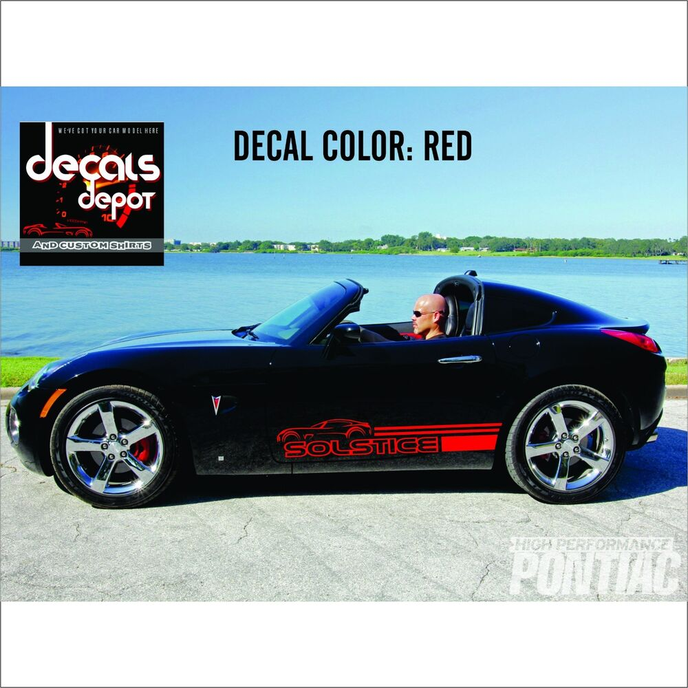 Decal Vinyl Fits PONTIAC Solstice Coupe Base Convertible GXP 2008 to 2017 Models | eBay