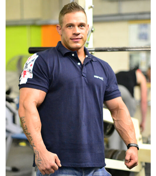 Bodybuilding polo shirt gym wear clothing by 1 rep max for Dress shirts for bodybuilders