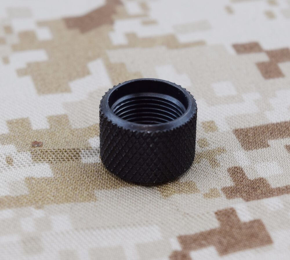 Black thread protector fits lone wolf barrel for