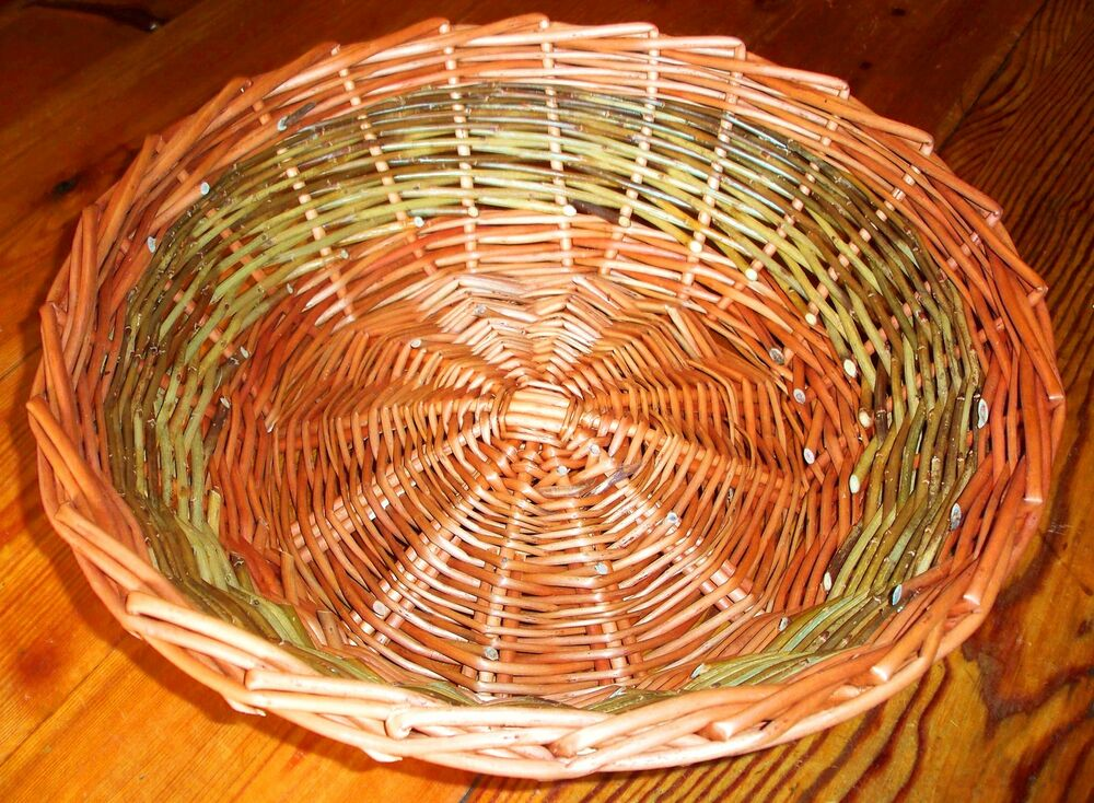 Basket Weaving Tools Beginners : Make this willow table basket a weaving kit for complete