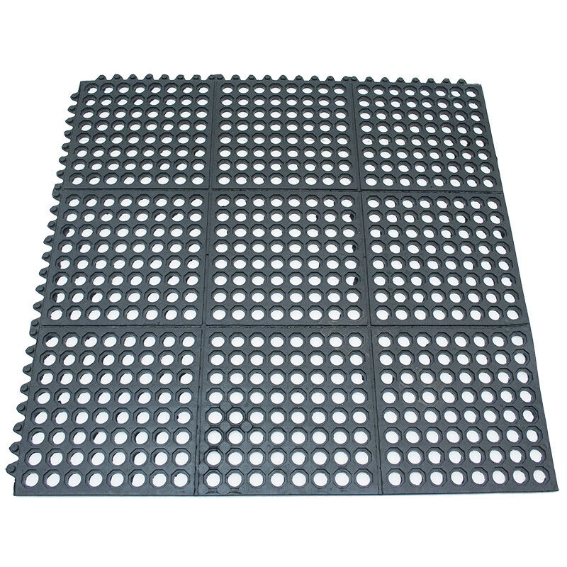 Winco Rbmi 33k Interlocking Rubber Floor Mat Squares