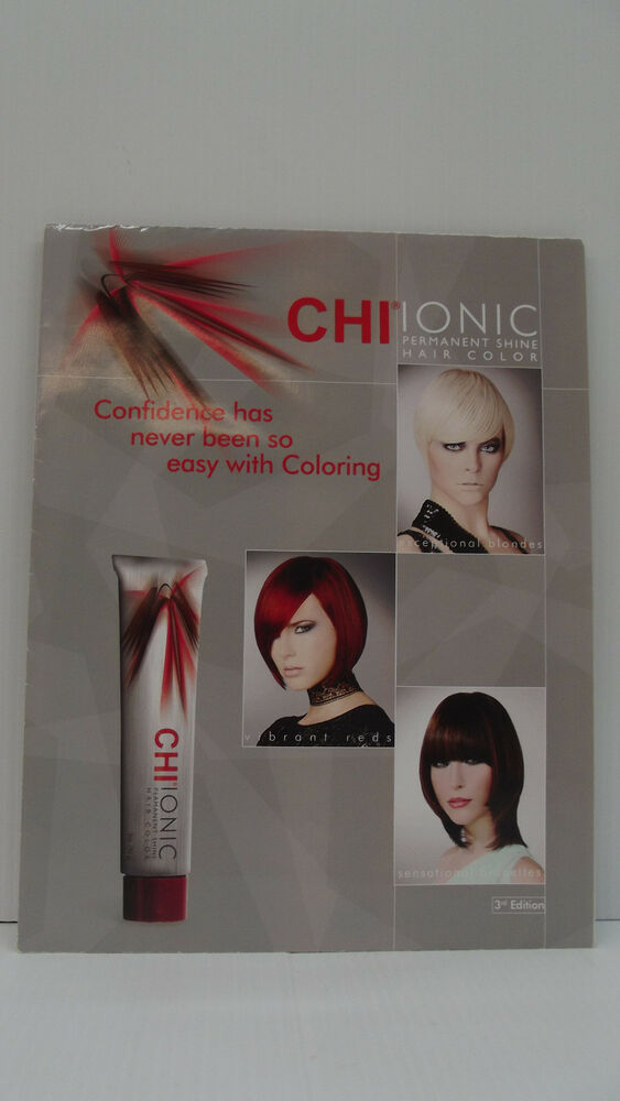 Chi Ionic Ammonia Free Permanent Hair Color Poster Swatch Chart