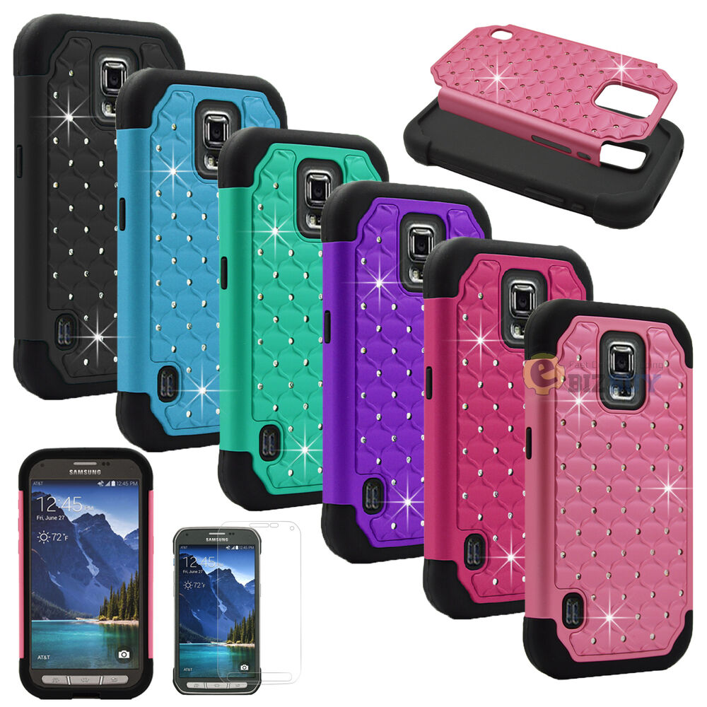 Hybrid Rugged Bling Hard Protective Case Cover For Samsung ...