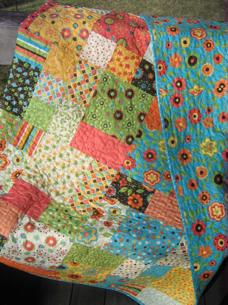 Patchwork QUILT PATTERN Fat Quarters, Beginner, Quick