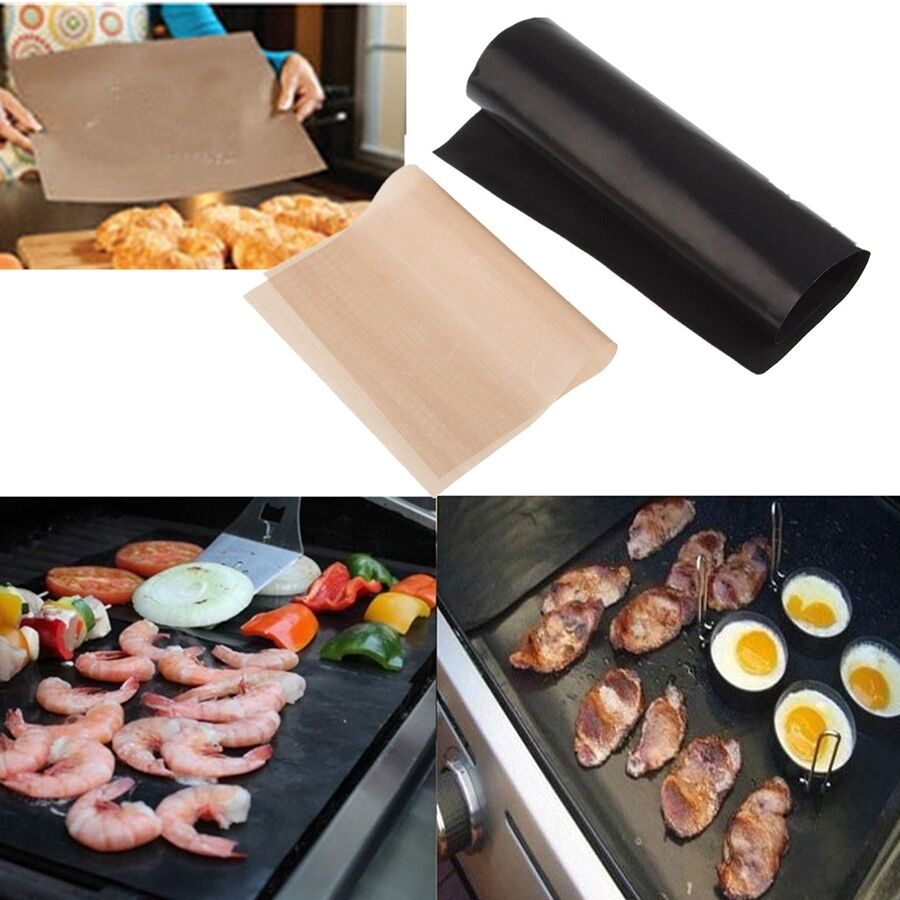 BBQ GRILL MAT As Seen On TV Oven & Baking Nonstick Outdoor