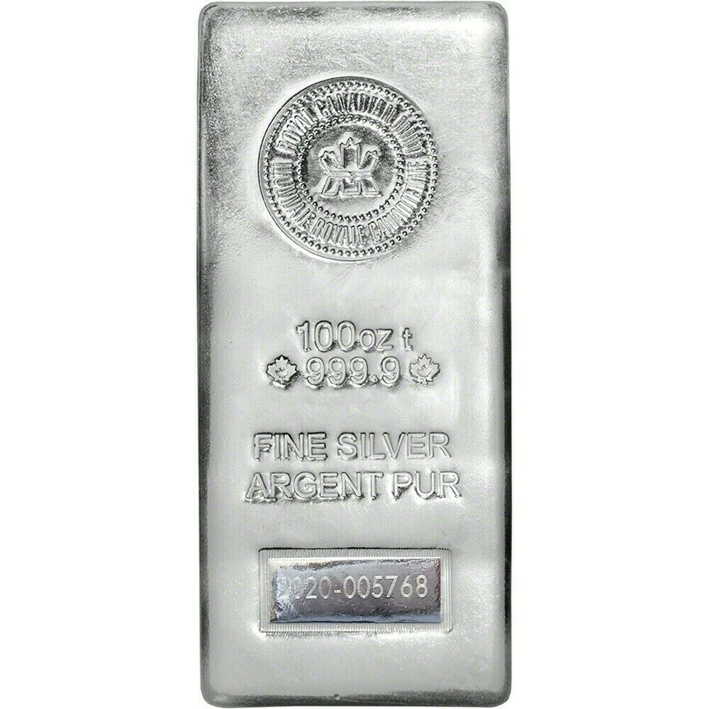 100 Oz Royal Canadian Mint Rcm 2013 Silver Bar 9999 Ebay