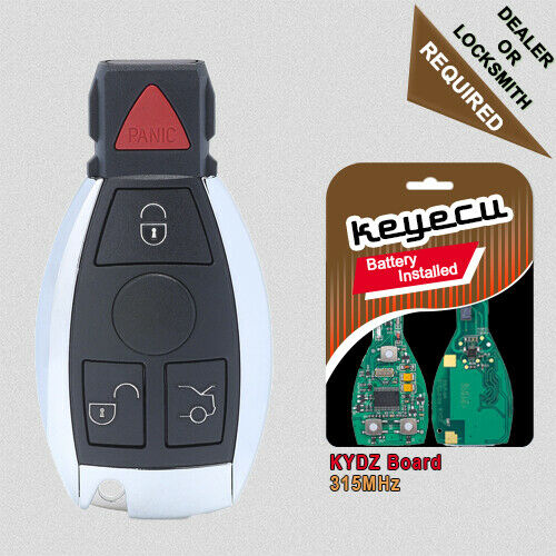 new replacement smart remote key fob 315mhz for mercedes