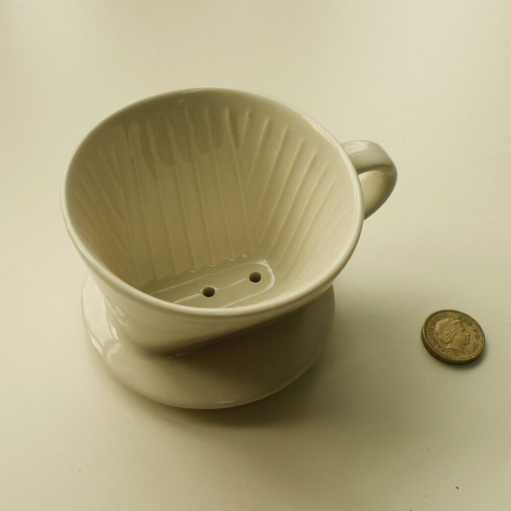 One Cup Ceramic Coffee Maker : 3 Hole Ceramic Coffee Filter Cone Drip Cup Maker Holder Kitchen Maker Porcelain eBay