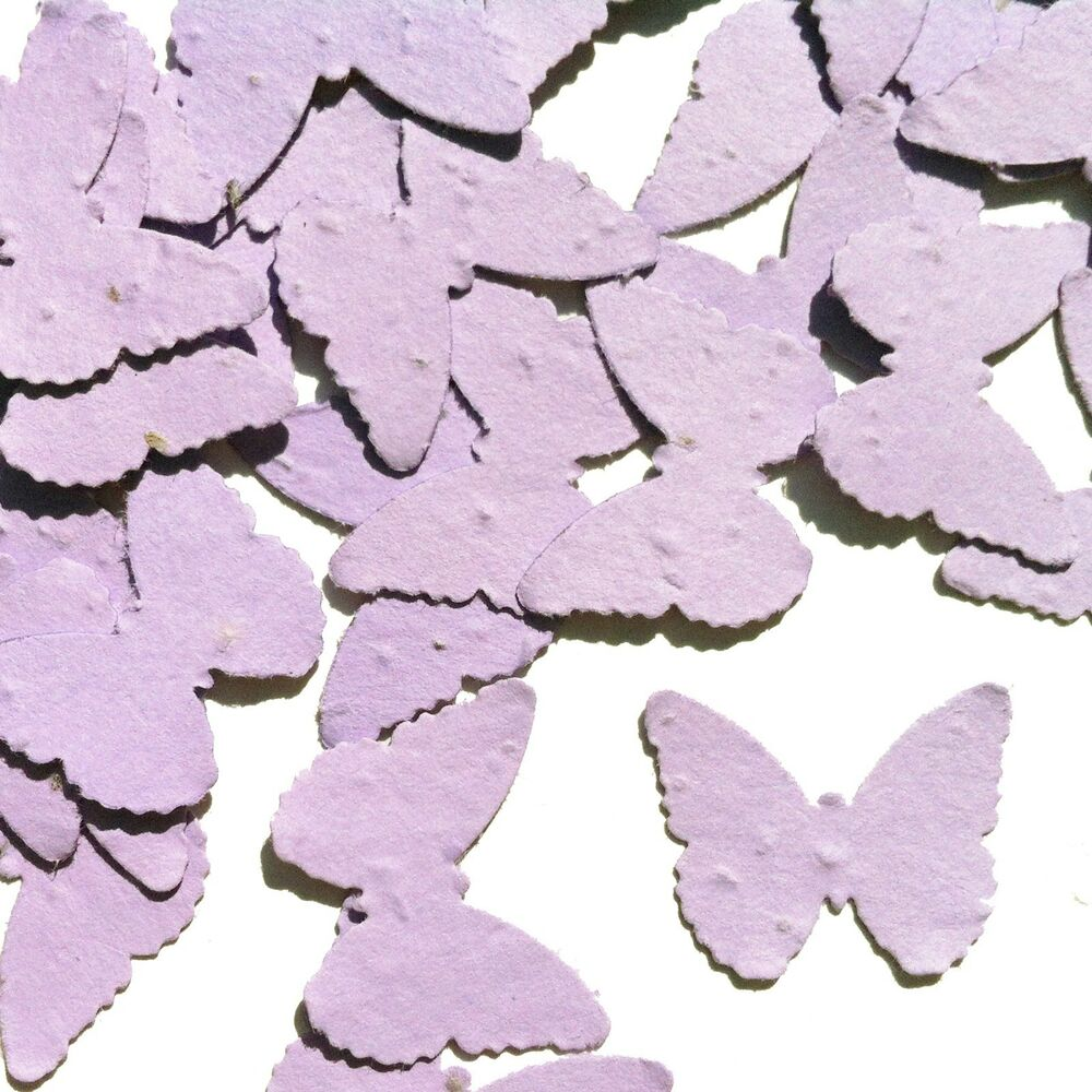 Lavender Butterfly Shaped Plantable Wildflower Seed ...