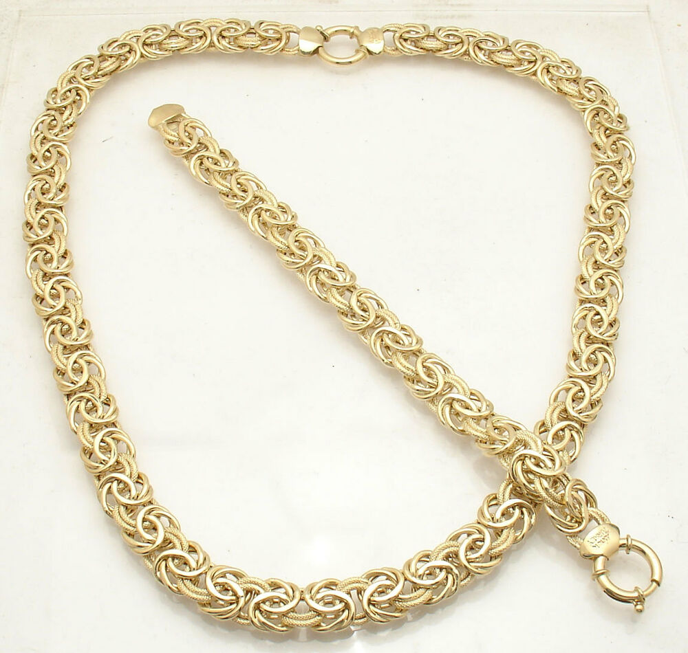 Bold Textured Byzantine Bracelet Or Chain Necklace Real