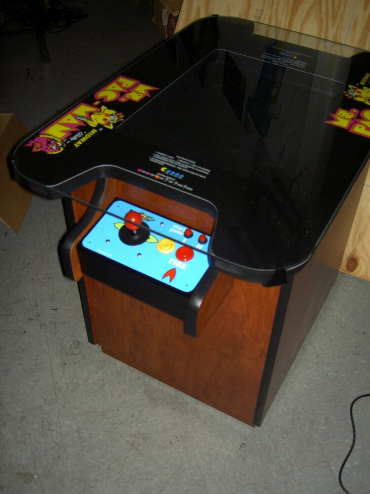 New Ms Pac Man Galaga Pacman Cocktail Table Video Arcade