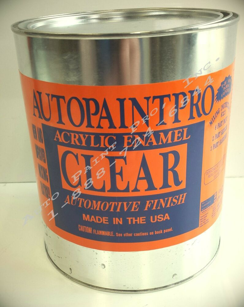 Acrylic enamel clear coat gallon auto body shop for Automotive paint suppliers