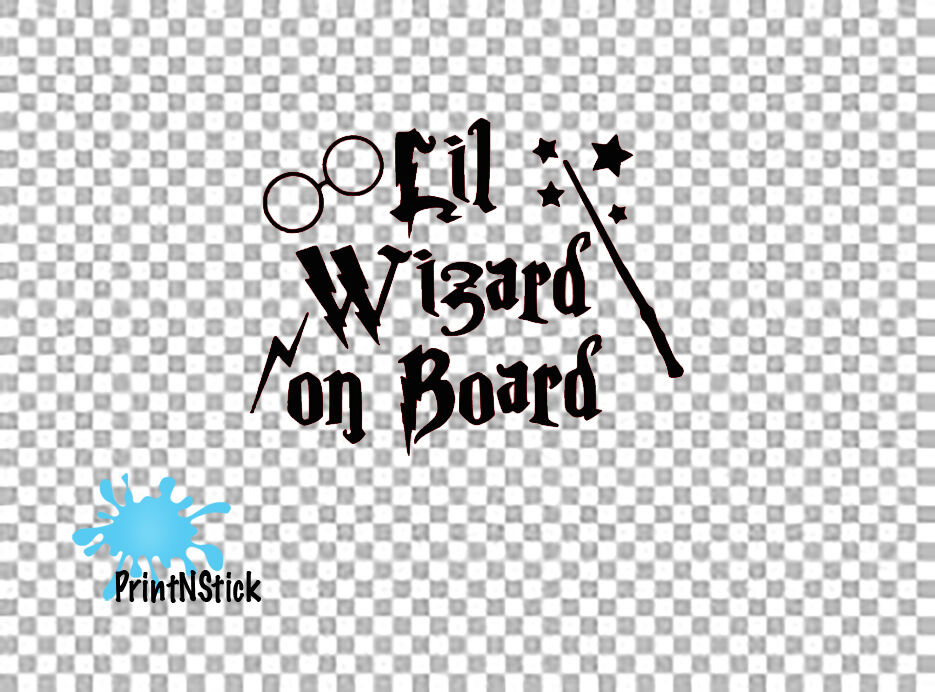 harry potter wand lil wizard baby on board vw dub novelty. Black Bedroom Furniture Sets. Home Design Ideas