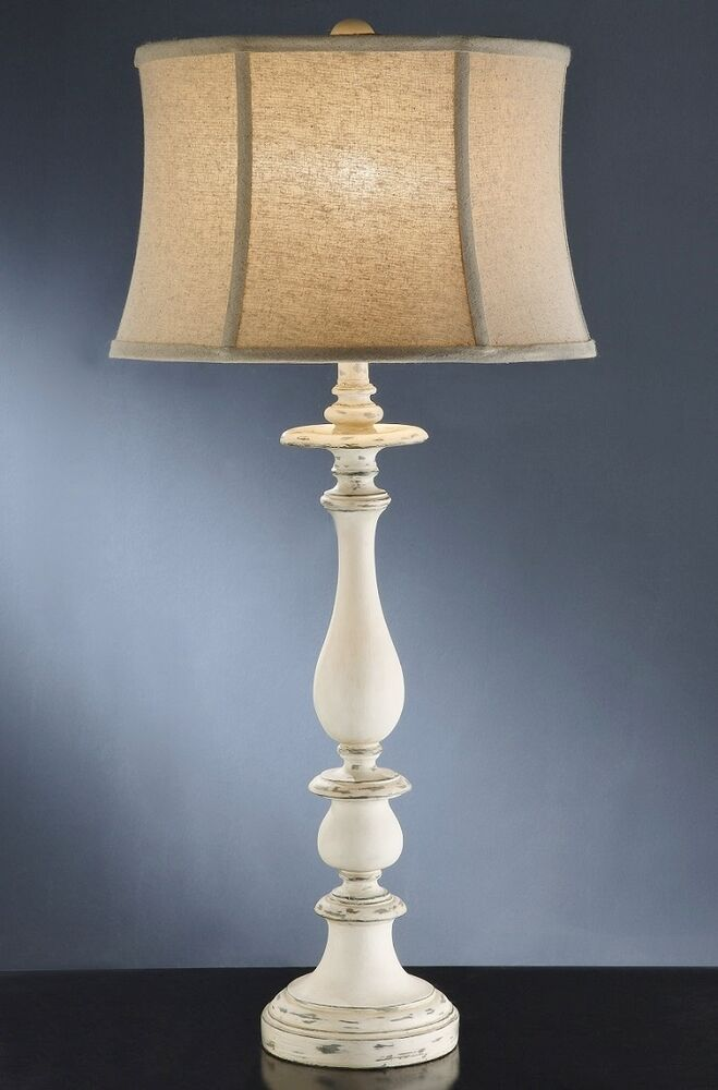 Shabby Cottage Chic Table Lamp French Country Style