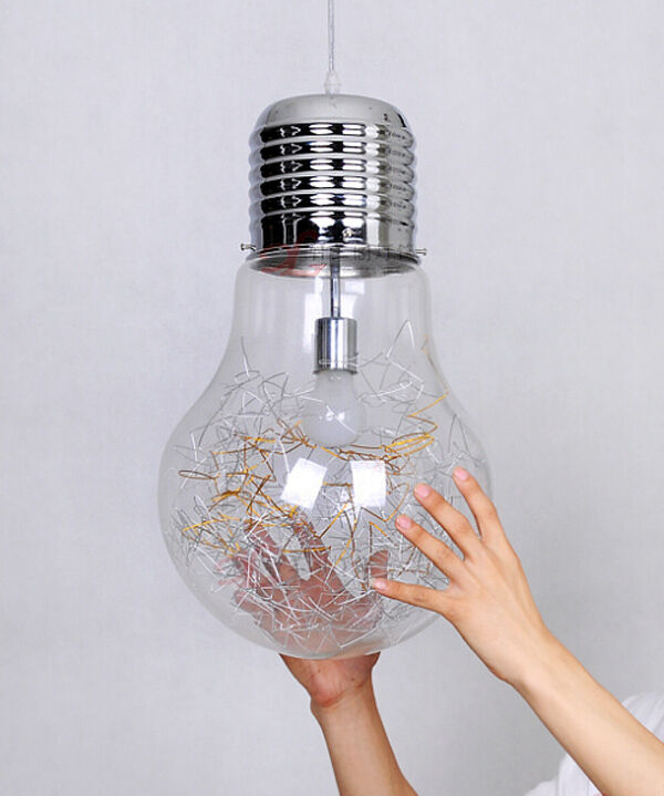 Antique industrial diy big edison bulb glass ceiling lamp for Hanging light bulbs diy