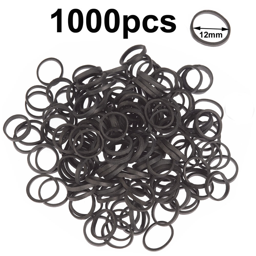 Mini Small Black Elastic Rubber Bands Hair Braid Poly