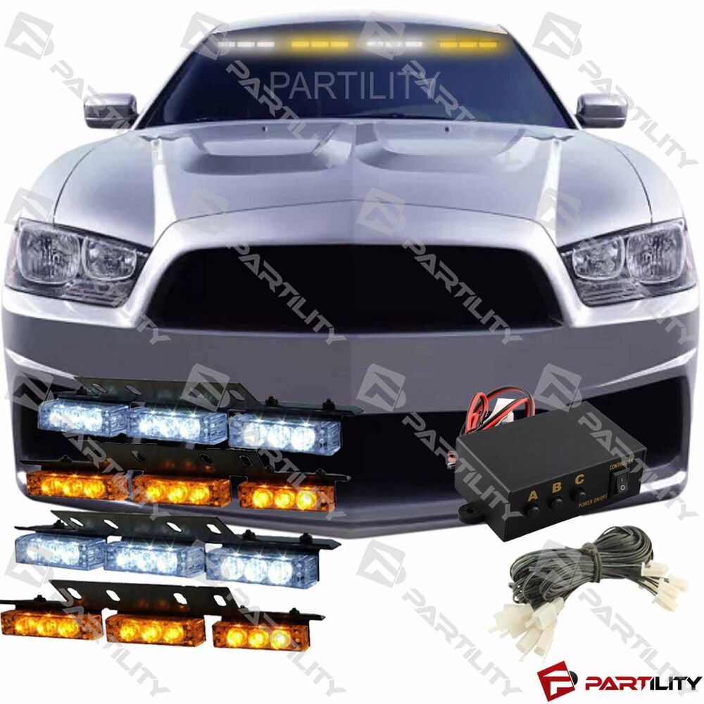 led strobe warning light kit in addition amber emergency strobe light. Black Bedroom Furniture Sets. Home Design Ideas