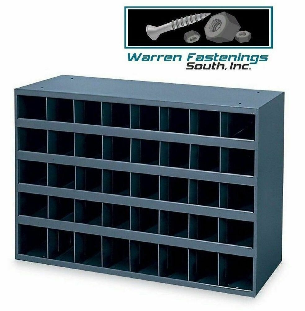 40 HOLE STORAGE BIN CABINET FOR NUTS BOLTS AND FASTENERS AND PIPE FITTINGS  | EBay