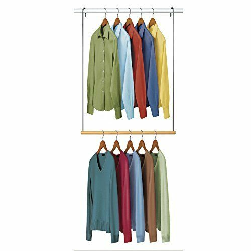 lynk double hang closet rod organizer clothing hanging