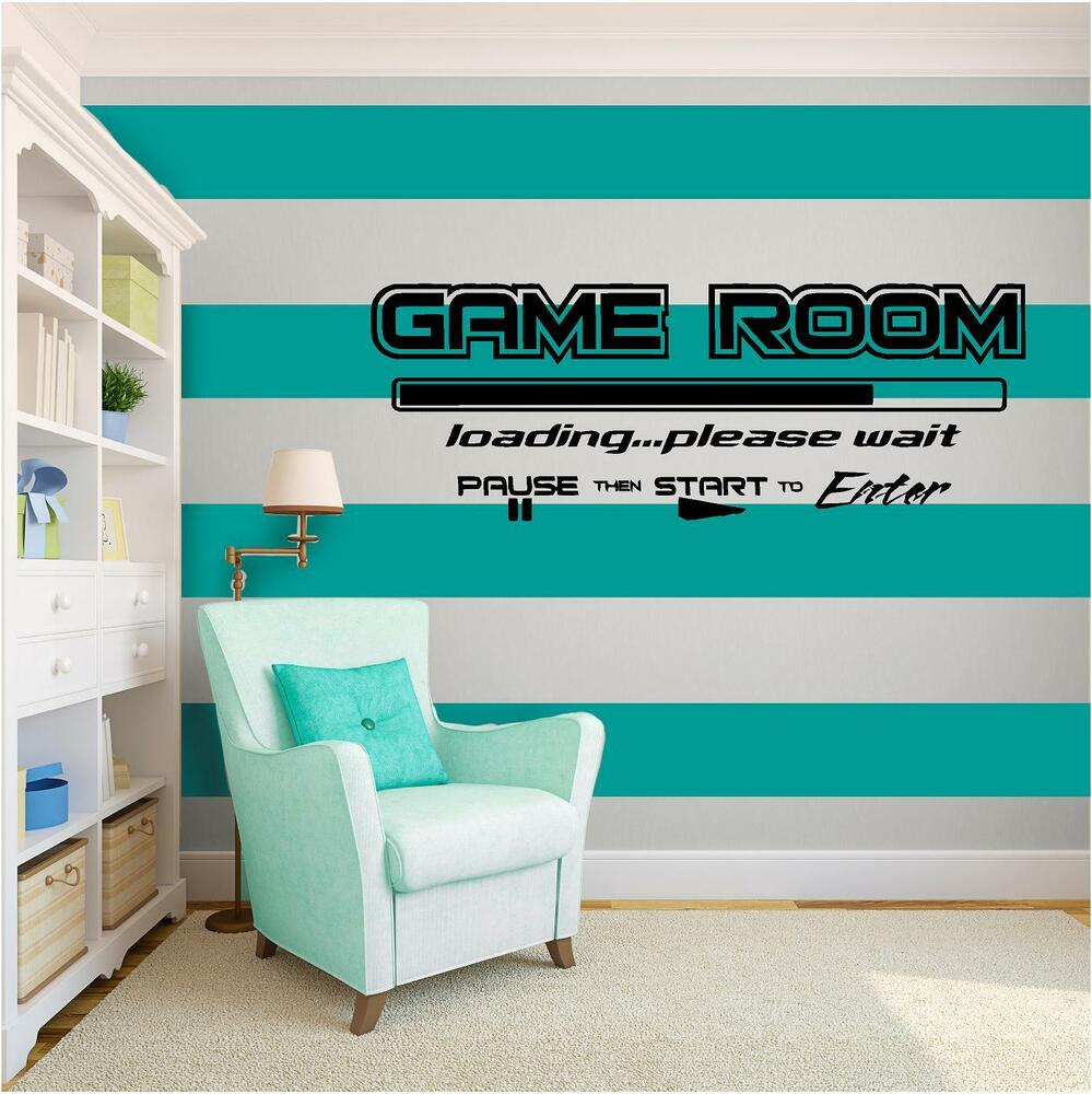 game room vinyl wall art quote home decor decal words phrases matte black ebay. Black Bedroom Furniture Sets. Home Design Ideas