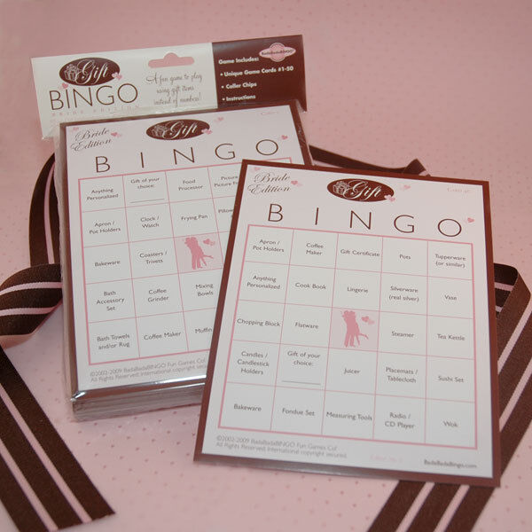 Bride Gift Bingo Bridal Shower Game For 50 Players From BadaBadaBingo