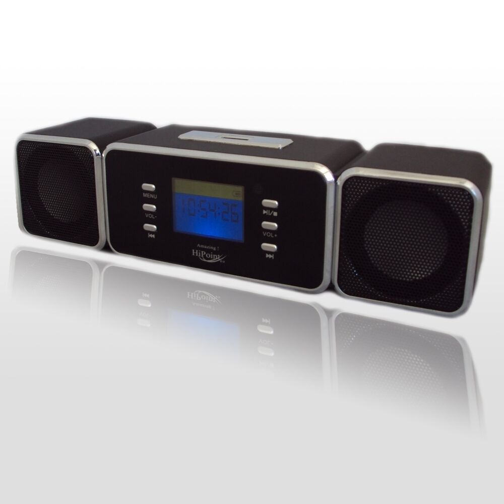 portable digital speaker with usb mp3 4 micro sd tf fm radio lcd display ebay. Black Bedroom Furniture Sets. Home Design Ideas