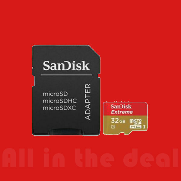 SanDisk Extreme 45MB/s 32GB microSD micro SDHC SD Class 10 UHS-1 Card | eBay