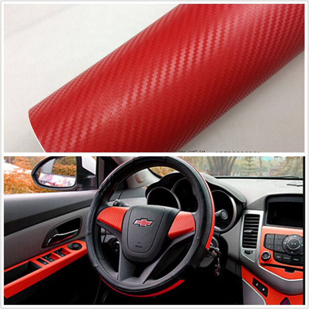 Car Suv Interior Accessories Interior Panel Red Carbon Fiber Vinyl Wrap Sticker 4683812986692 Ebay