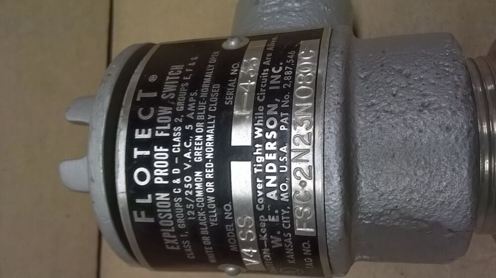 Flotect w e anderson dwyer vane operated flow switch
