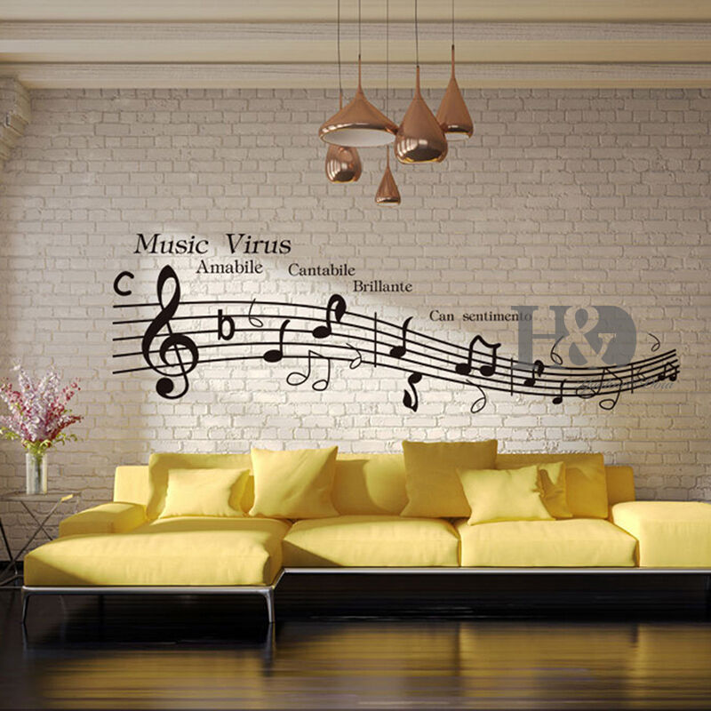 Music virus musical notation removable vinyl decal wall - Over the garden wall soundtrack vinyl ...