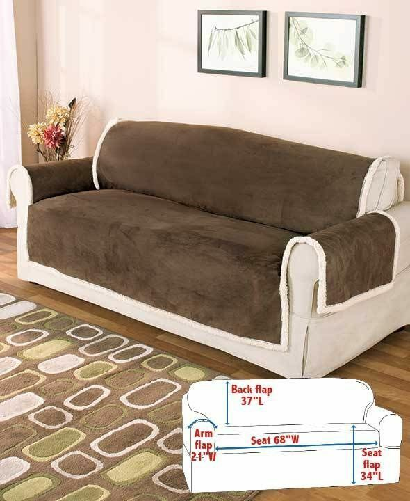 CHOCOLATE MICROSUEDE amp SHERPA PROTECTIVE FURNITURE SOFA  : s l1000 from www.ebay.com size 590 x 720 jpeg 55kB