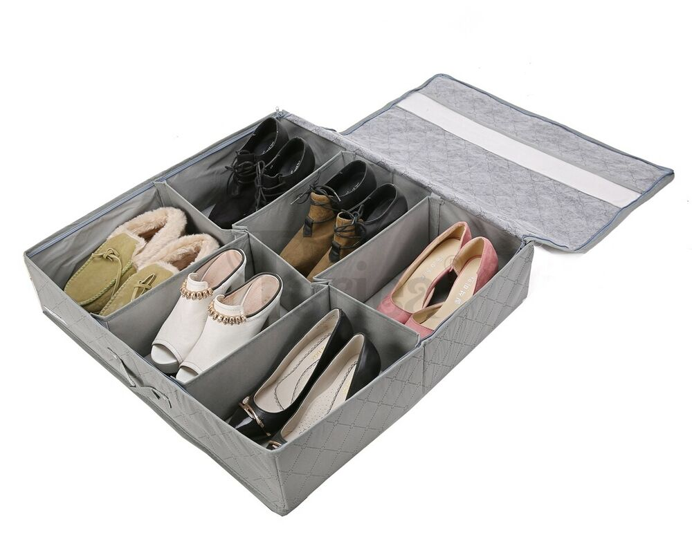 Periea Underbed Shoe Storage Organiser Box Strong With Lid