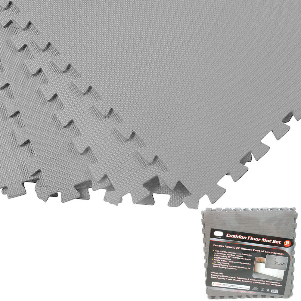 Gray sqft exercise play foam gym floor flooring mat