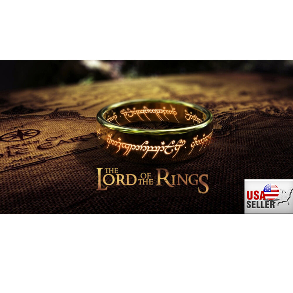 8mm Lord Of The Rings Hobbit Quot The One Ring Quot Laser Engraved