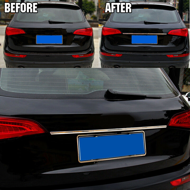 Fit For Audi Q5 Chrome Rear Trunk Door Tailgate Lid Cover